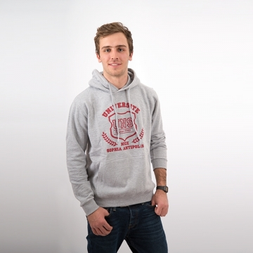 Sweat à capuche Gris / Rouge Homme