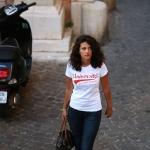 Tee-shirt Femme blanc - rouge