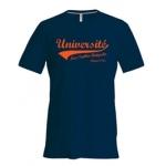 Tee-shirt Homme marine orange
